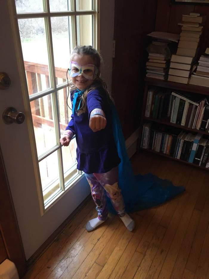 super hero Miriam.